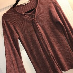 Pretty bell sleeve top